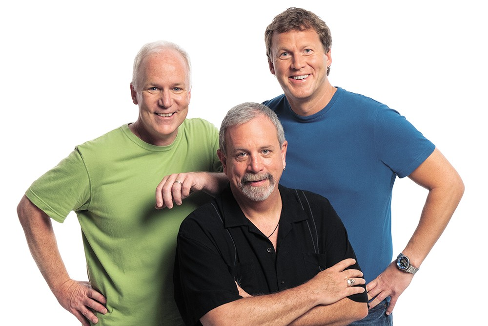 From left: Bill Corbett, Kevin Murphy and Mike Nelson