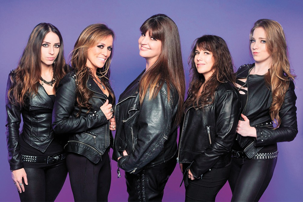 Daughters to the slaughter: The Iron Maidens are one of the best all-female rock tribute acts out there.