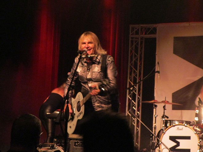 The Alarm's Mike Peters at the Bing Wednesday night. - DAN NAILEN PHOTO