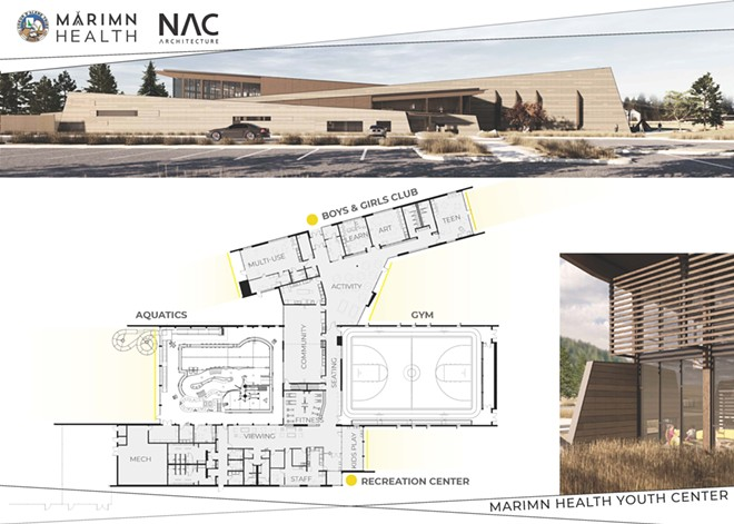 NAC ARCHITECTURE/MARIMN HEALTH YOUTH CENTER RENDERING