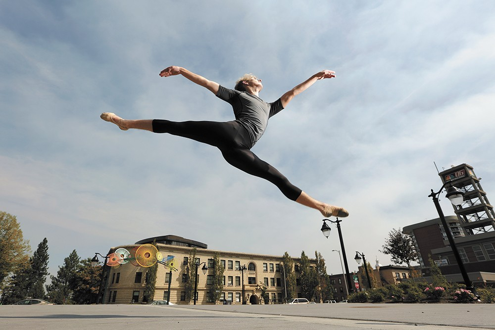 Spokane dancer Harris Kahler leaps into a bright future this fall. - YOUNG KWAK PHOTO