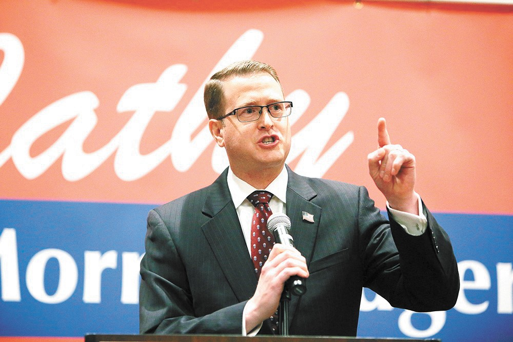 Spokane Valley Republican Rep. Matt Shea faces a growing chorus of people calling for his resignation. - YOUNG KWAK PHOTO