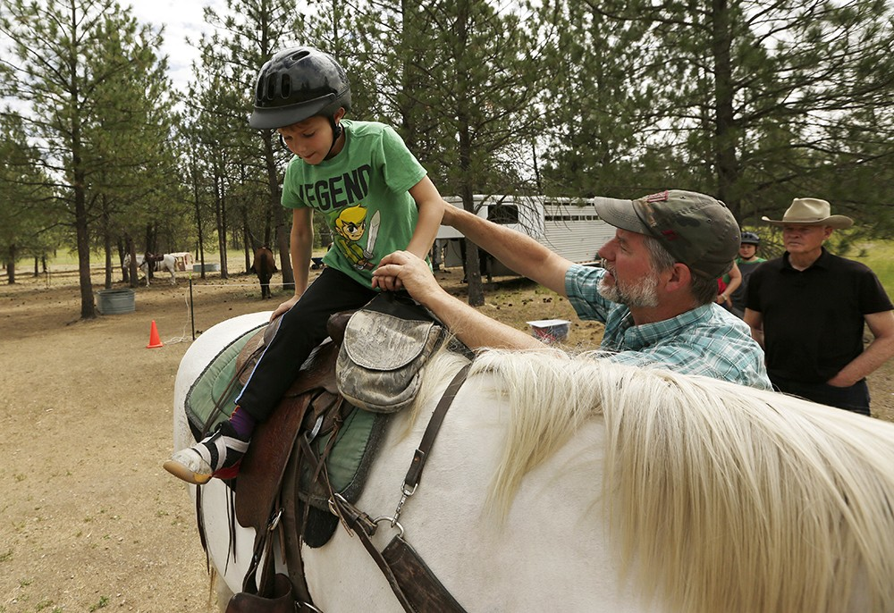 True West Trail Rides co-owner Sheila Anderson in Riverside State Park. - YOUNG KWAK PHOTO