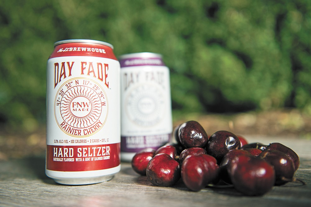 Rainier Cherry and Huckleberry Day Fade Hard Seltzers from No-Li Brewhouse. - DEREK HARRISON PHOTO
