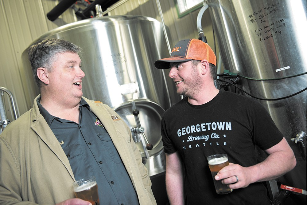 Selkirk Abbey owner Jeff Whitman (left) and Michael DeTar. - DEREK HARRISON PHOTO