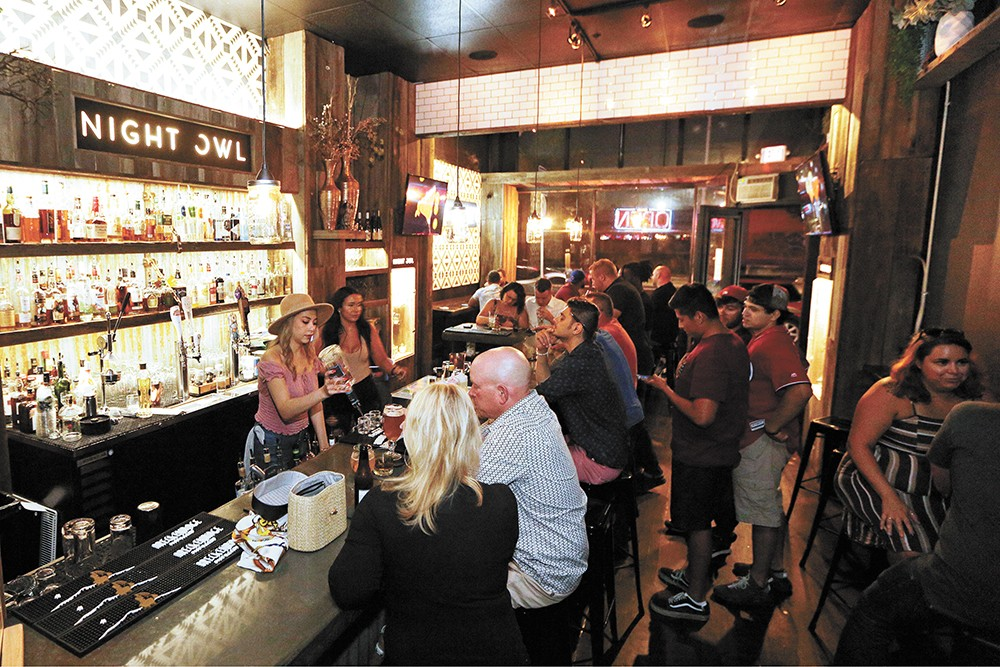 """Night Owl on North Division is one of Spokane's newest """"tiny bars."""" - YOUNG KWAK PHOTO"""