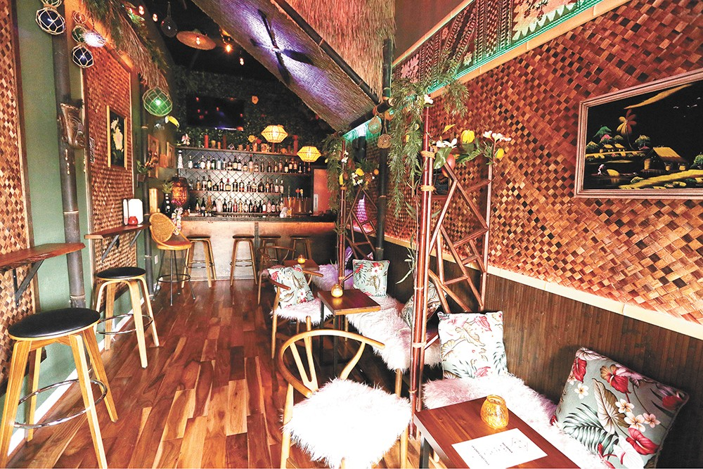 Escape the hustle at the Tiny Tiki, downtown on West Second Avenue. - YOUNG KWAK PHOTO