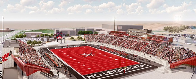 Rendering of a renovated EWU stadium - COURTESY OF EWU