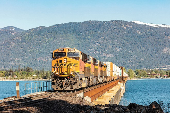 Should Sandpoint really have a second bridge over Lake Pend Oreille? - BNSF RAILWAY PHOTO