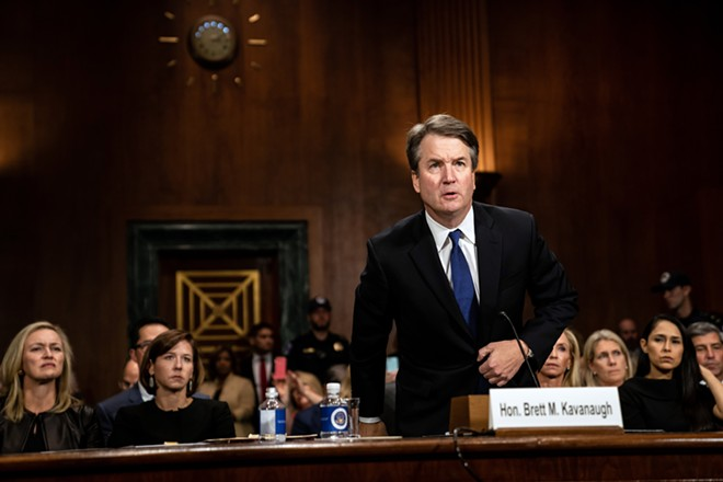 Judge Brett Kavanaugh before the Senate Judiciary Committee in Washington, Thursday, Sept. 27, 2018. - ERIN SCHAFF/THE NEW YORK TIMES