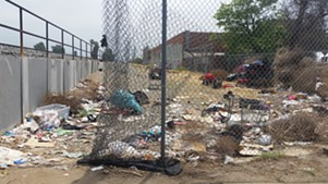 Remnants of a homeless encampment in L.A. - ECO BEAR BIOHAZARD CLEANING COMPANY/FLICKR