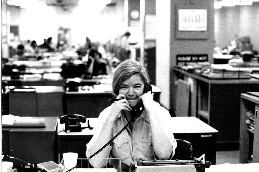 Molly Ivins in Raise Hell.
