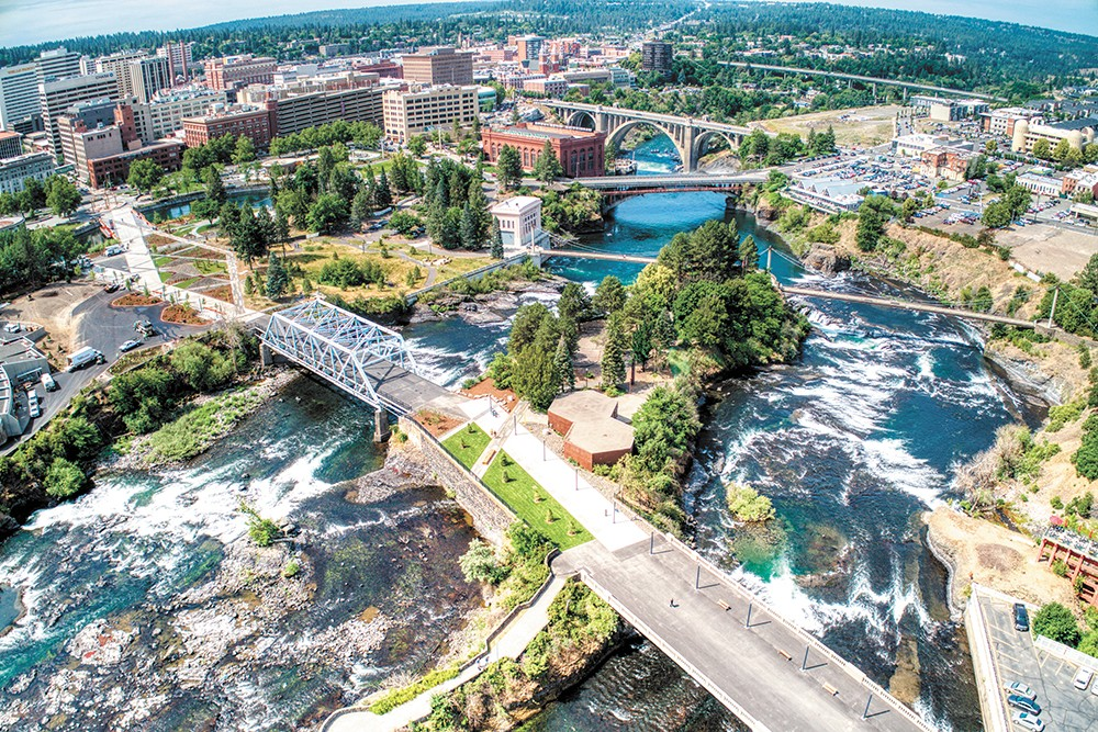 The Howard Street Promenade connects downtown and the Spokane Arena, crossing three bridges. - BERGER PARTNERSHIP/KELLY BECK PHOTO
