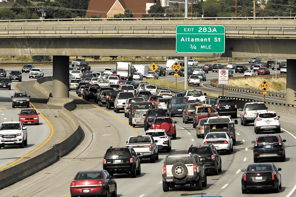 According to the Washington State Department of Transportation traffic volumes are steadily increasing on the I-90 corridor, up 10 percent from 2012-2015 alone. - YOUNG KWAK PHOTO