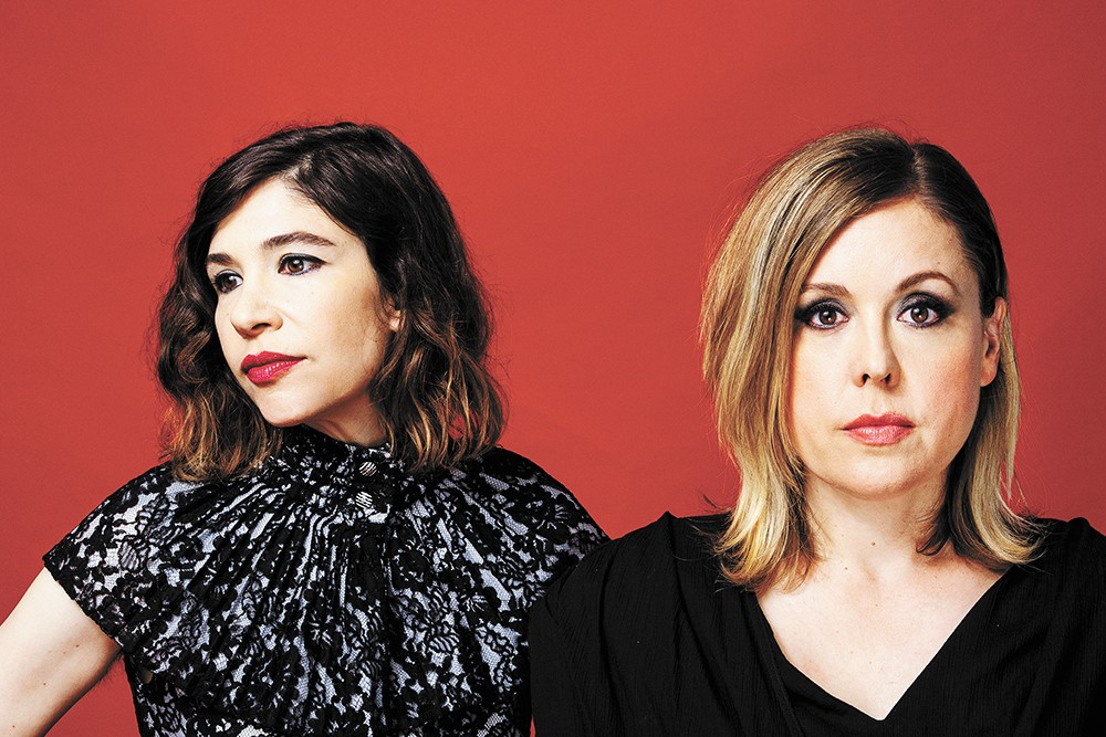 Carrie Brownstein (left) and Corin Tucker. - NIKKO LAMERE PHOTO