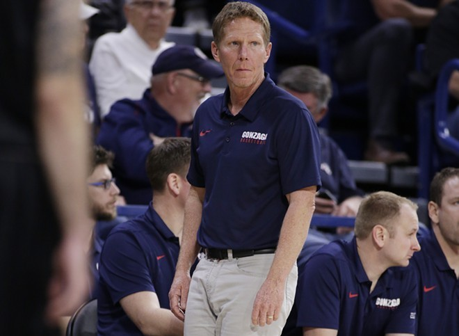 "Basketball coach Mark few to California governor: ""Stay in your lane."" - YOUNG KWAK PHOTO"