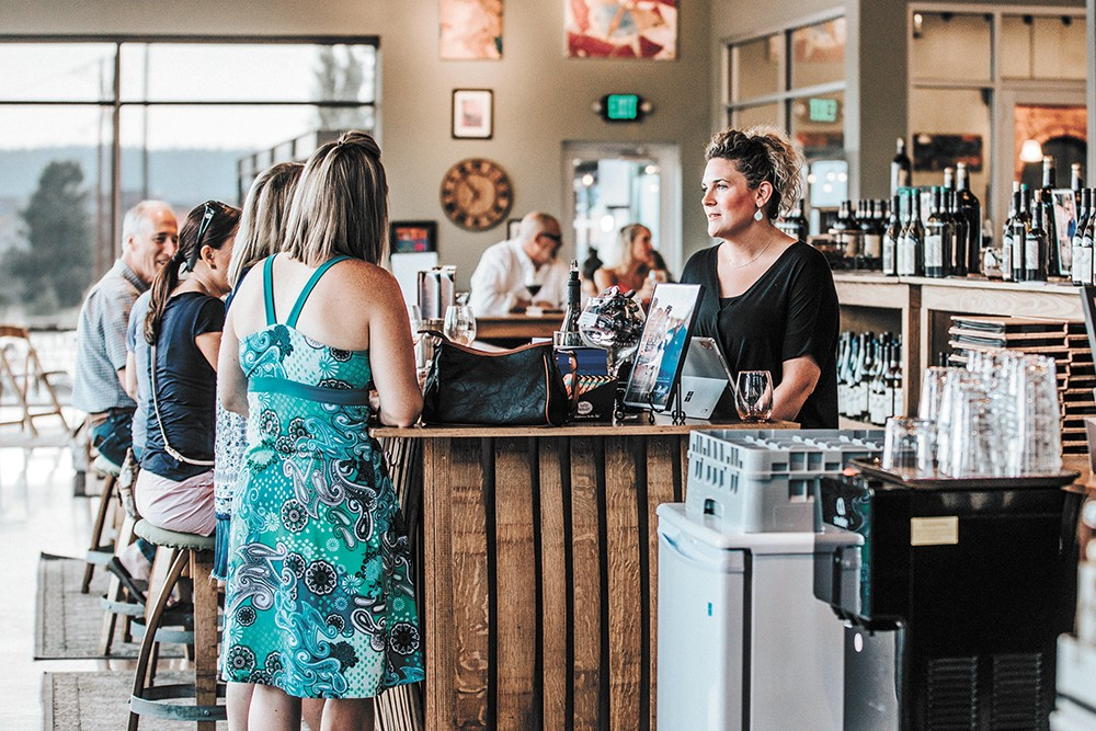 The Kendall Yards tasting room opened in late 2017. - ALICIA HAUFF PHOTO
