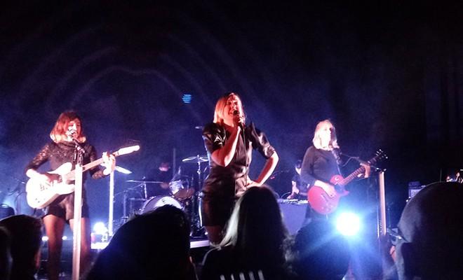 "Corin Tucker set aside her guitar to lead the band through new single ""Animal."" - DAN NAILEN PHOTO"