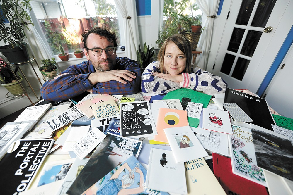 Ian Amberson, Chelsea Martin and a whole lot of zines. - YOUNG KWAK PHOTO