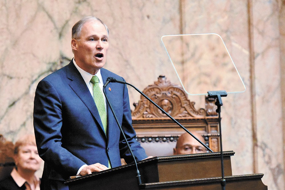 Gov. Jay Inslee signed a law earlier this year aimed at protecting tenants from evictions. - OFFICE OF THE GOVERNOR PHOTO