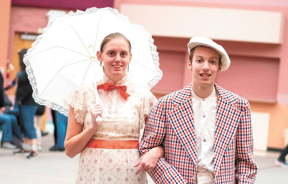 Actors from last year's production of Mary Poppins.