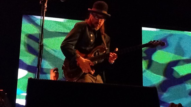 Primus' Les Claypool — he has some massive hands! - DAN NAILEN