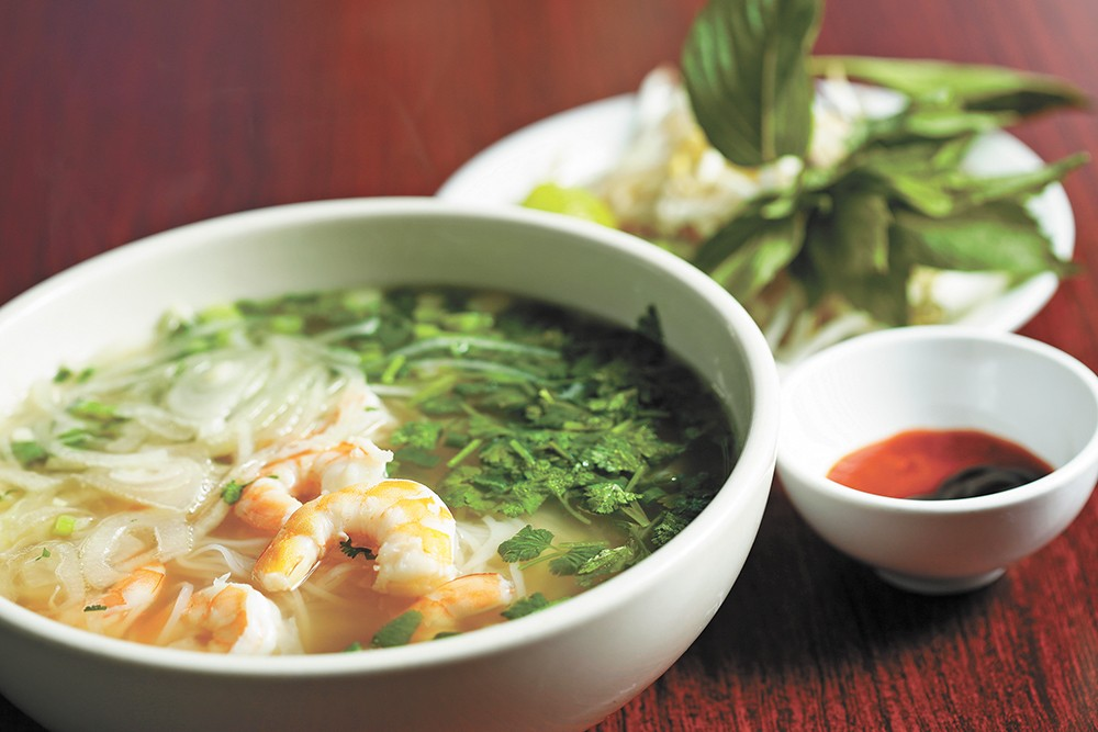 The shrimp pho at Vien Dong. - YOUNG KWAK PHOTO