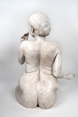 Even turning this sculpture around didn't stop complaints from being raised about it. - SCULPTURE BY STEPHANIE DISHNO