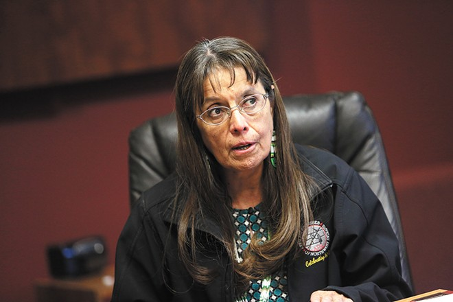 Spokane Tribal Chairwoman Carol Evans - YOUNG KWAK PHOTO