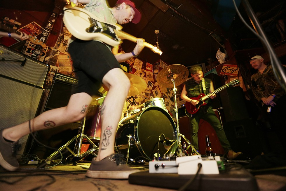 Local group Bad Motivator performs at Mootsy's during the Inlander's Volume Music Festival. - YOUNG KWAK PHOTO