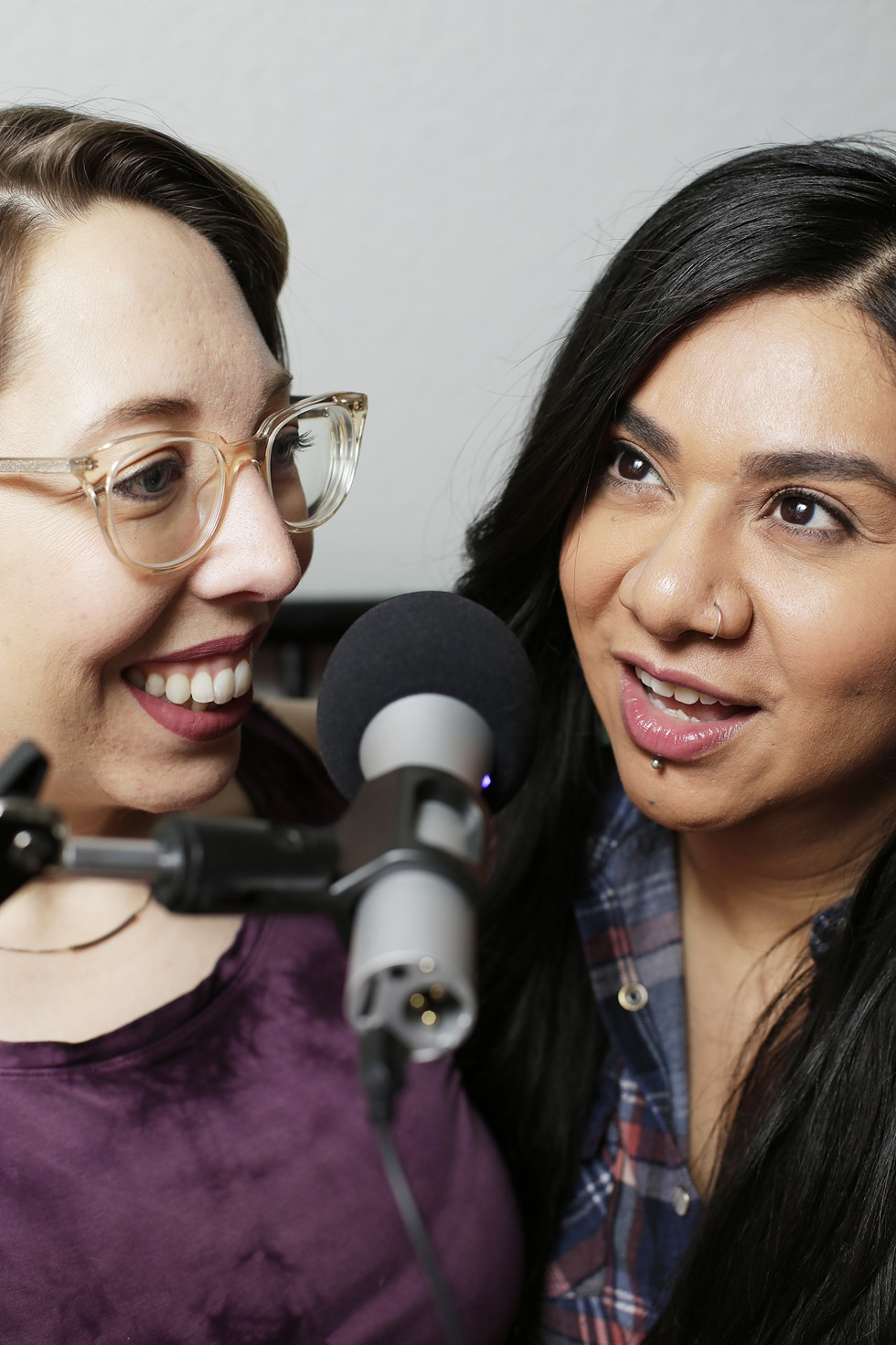 I Don't Know Her podcast hosts Amanda Mead, left, and Rita Vigil were featured in a February article about local podcasters. - YOUNG KWAK PHOTO