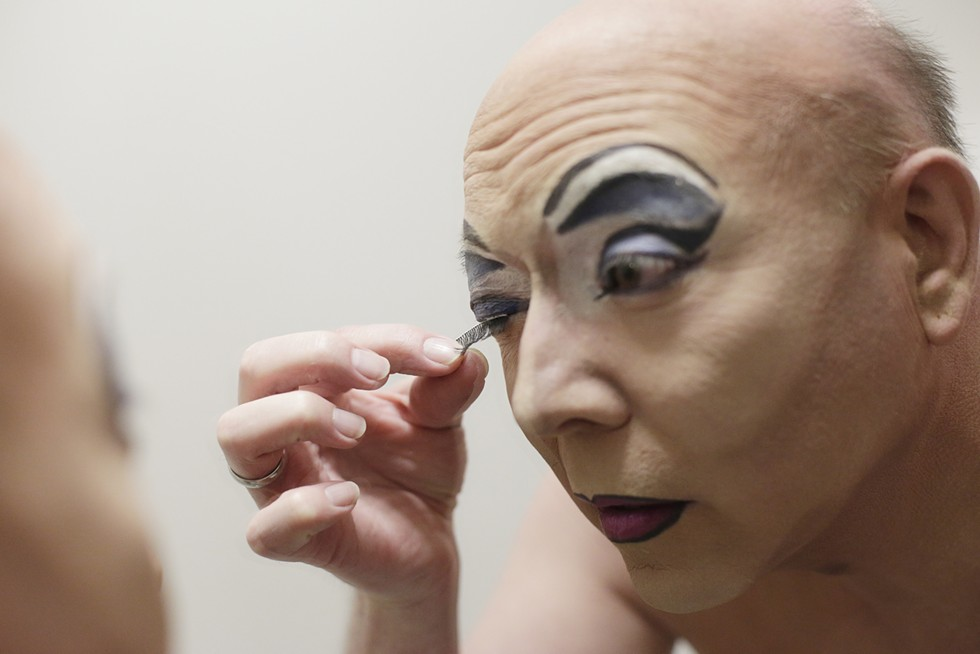 Jason Johnson transforms into his drag persona Nova Kaine for our Pride cover story in June. - YOUNG KWAK PHOTO