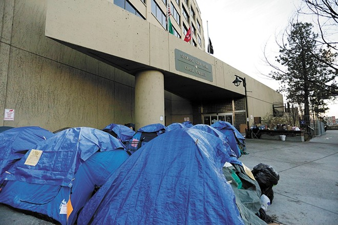 Spokane County will pitch in for a new homeless shelter in Spokane. - YOUNG KWAK PHOTO