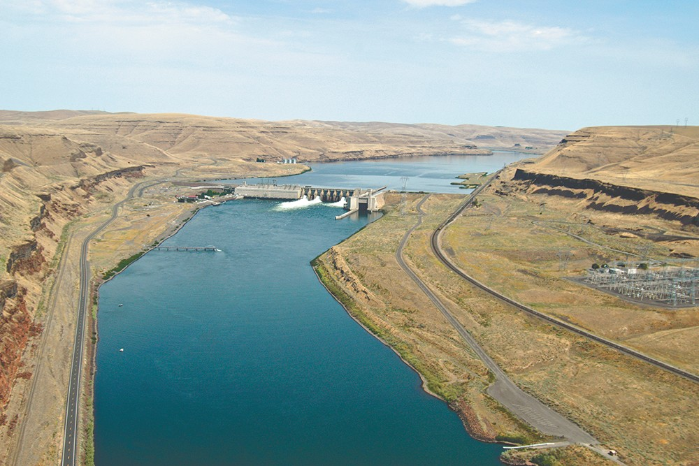 The Lower Monumental Dam is one of four along the Snake River that some advocates say should be removed. - COLUMBIA BASIN FEDERAL CAUCUS PHOTO
