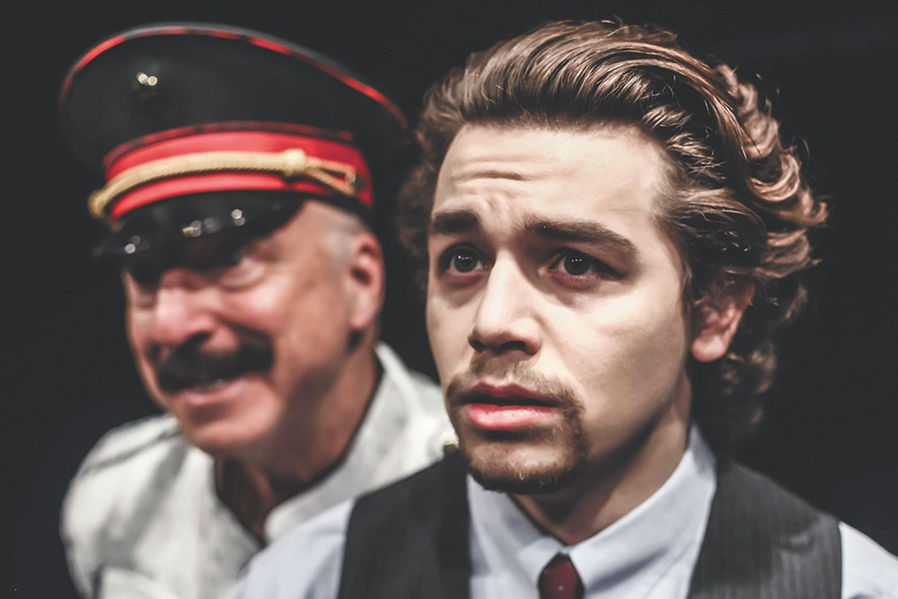 "J.P. O'Shaughnessy (left) plays the ""cold-blooded S.O.B."" Joseph Stalin. - KIMBERLY SHARON PHOTO"