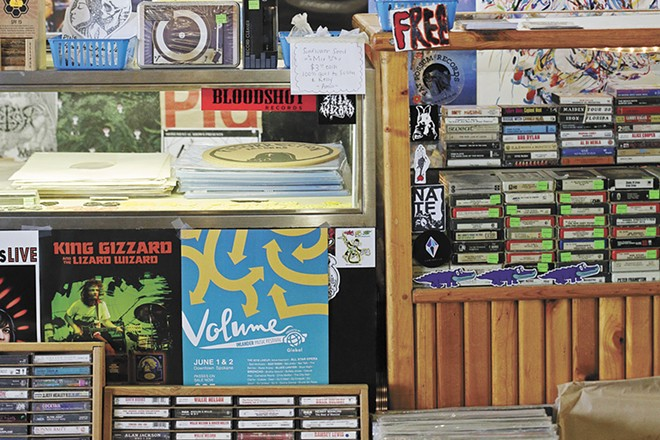 Support your local vinyl sellers, like Resurrection Records. - YOUNG KWAK PHOTO