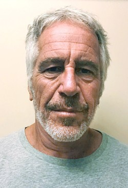 A photo provided by the New York State Sex Offender Registry shows Jeffrey Epstein on March 28, 2017. Officials first believed that video from outside of Epstein's cell during his suicide attempt in July had been recovered but now they say it no longer exists. - NEW YORK STATE SEX OFFENDER REGISTRY VIA THE NEW YORK TIMES