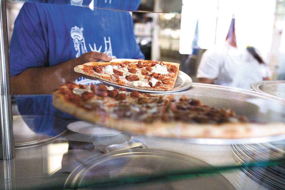 Locally, DiNardi's Pizza & Pasta offers a close match to real New York-style pizza. - ALICIA HAUFF PHOTO