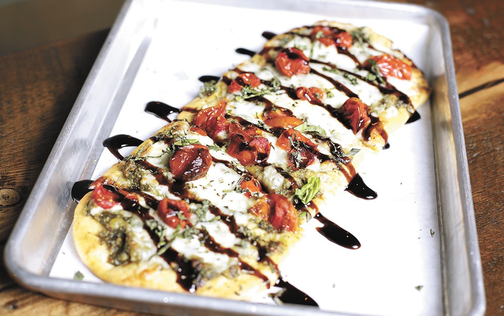 North Hill on Garland's caprese flatbread. - YOUNG KWAK PHOTO