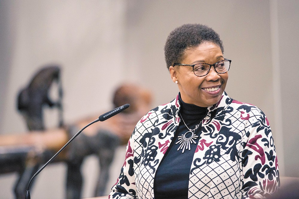 """While Councilwoman Betsy Wilkerson is optimistic, she also expresses frustration with the state of Spokane. """"I would have thought we would have been further along in a lot of the issues we're facing. ... There's a lot of talk with no action."""" - DANIEL WALTERS PHOTO"""