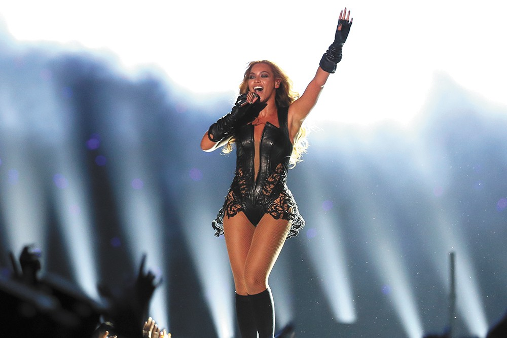 Beyonce: Queen of the halftime show. - PETE SEKESAN PHOTO