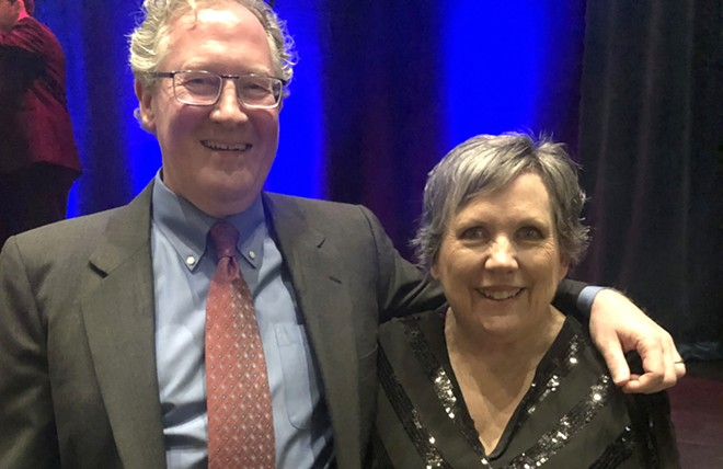 Mary Cole with Ted McGregor Jr., winner of Leadership Spokane's 2020 King Cole Luminary Award. Mary Cole is one of King Cole's daughters, and she introduced McGregor at the Leadership LIghts the Way Gala on Jan. 25 at Northern Quest Resort and Casino.