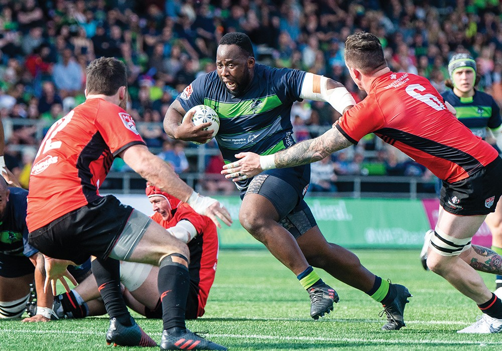 Nutrition-planning for high level athletes, like Seattle's Seawolves rugby players, doesn't rely on supplements. - QUINN WIDTH PHOTO