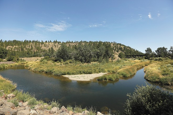 PCBs are a concerning toxic pollutant in the Spokane River watershed, which includes Hangman Creek (pictured). - YOUNG KWAK PHOTO