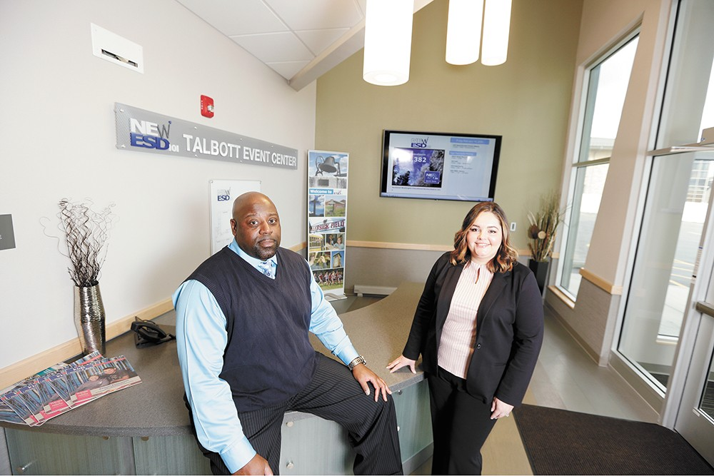Leon Covington and Alise Mnati are threat assessment coordinators for a region covering more than 50 school districts in Eastern Washington. - YOUNG KWAK PHOTO