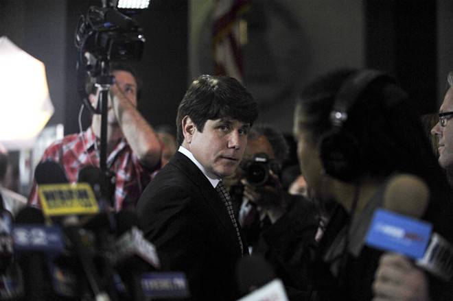 Former Illinois Gov. Rod Blagojevich, leaves court at the Dirksen Federal Building in Chicago, June 27, 2011. President Donald Trump, on Tuesday, Feb. 18, 2020, commuted the 14-year prison sentence of Blagojevich, the Democrat who was convicted of trying to essentially sell Barack Obama's vacated Senate seat for personal gain. - AMANDA RIVKIN/THE NEW YORK TIMES