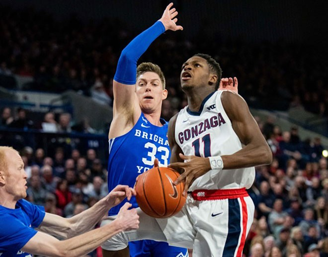 Unlike this game in Spokane, BYU had a winning plan against Gonzaga in Provo Saturday. - ERICK DOXEY