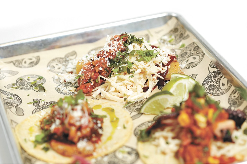 Tacos from Cochinito Taqueria. - YOUNG KWAK PHOTO