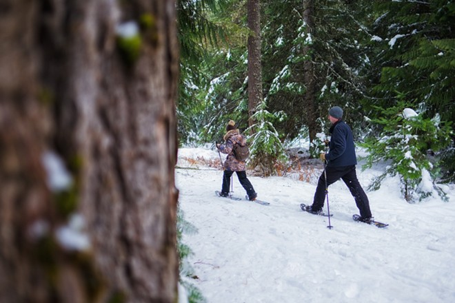 Snowshoeing trips are just one option to get outdoors while it's still cold outside. - SPOKANE PARKS & RECREATION PHOTO