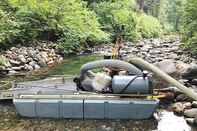 Suction dredge mining allows recreational users to search for gold and other valuable materials — a process that environmentalists worry can hurt fish. - KIM MCDONALD PHOTO